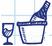 Icon Wein und Glas
