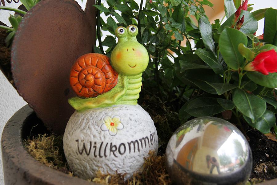 Deko Willkommen im Gästehaus Gerlinde